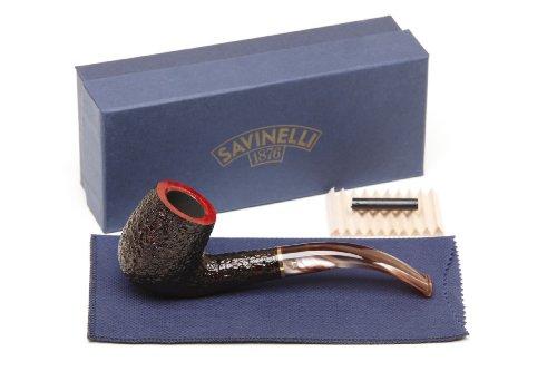 Savinelli Roma Rustic 606 KS Lucite Stem Tobacco Pipe by Savinelli