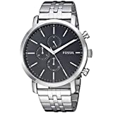Fossil Men's Luther Quartz Watch with Stainless-Steel Strap, Silver, 21.75 (Model: BQ2328IE)