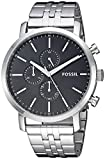 Fossil Men's 'Luther' Quartz Stainless Steel Watch, Color:Silver-Toned (Model: BQ2328IE)