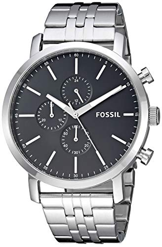 Fossil-Mens-Luther-Stainless-Steel-Chronograph-Quartz-Watch
