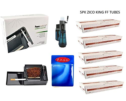 Powermatic 2 PLUS Electric Cigarette Injector Machine+ Two FREE Tubes,Cig Case & Two liters by F.e.s.s. Products (Image #1)