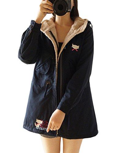 Largas engrosamiento ropa de algodón de las mujeres Navy One Size