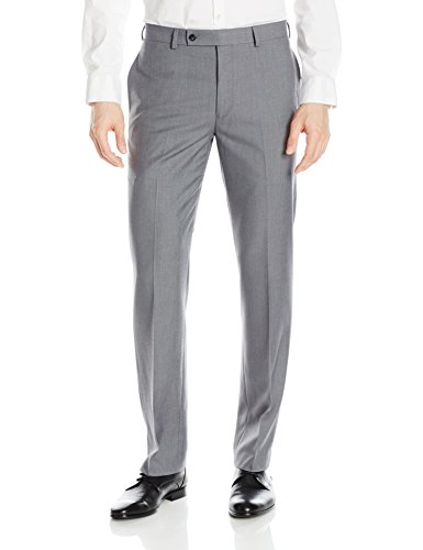 Calvin Klein Men's X Performance Slim Fit Flat Front Dress Pant, Medium Grey, 32 X 30