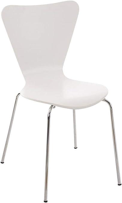 Chaise Empilable Calisto en Bois Assise Ergonomique Chaise de Salle d'Attente en Bois Chaise, Hauteur Assise 45 cm Couleurs au Choix:,
