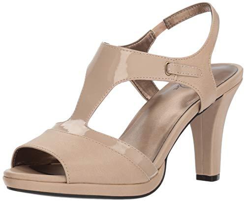 - LifeStride Women's Valley High Heel Strappy Dress Pump, Taupe 9 W US