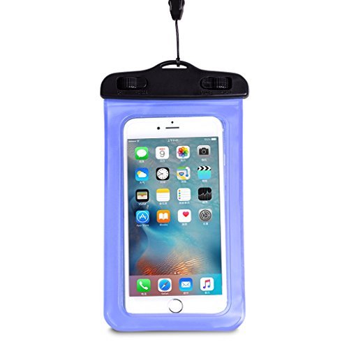 WALNEW Universal Waterproof Case,Cell Phone Dry Bag for Apple iPhone 6S 6,6S Plus, 5S 7, Samsung Galaxy S7, S7 Edge S6 Note 5 4, HTC LG Sony Nokia Motorola up to 6.0