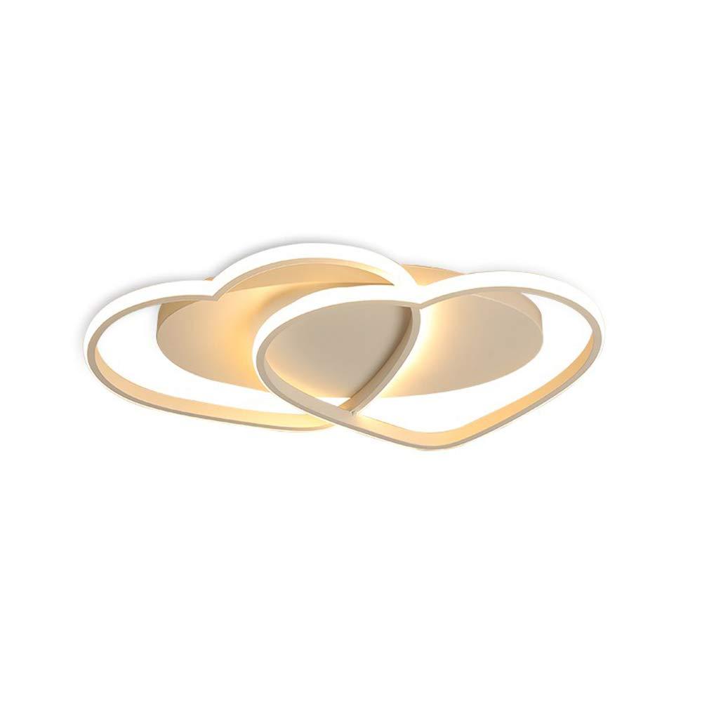 MITOYO LIGHT Modern Stil Deckenlampe Personalisierte Herz Deko Modellierung Deckenbeleuchtung aus Acryl+Aluminium,Kinderzimmer Wohnzimmer Schlafzimmer Hochzeitszimmer LED 40W Warmweiß 3000K