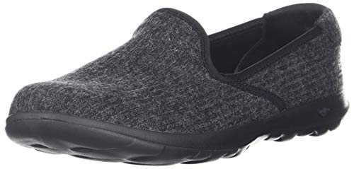 Enchantment Negro Go Skechers15365 Mujer gris Lite Walk qPvqaXt