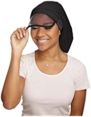 Hairbrella XL Women's Rain Hat, Waterproof, Sun Protection, Satin-Lined, Packable, for Voluminous and Long Hair
