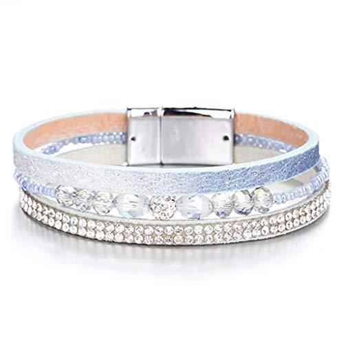 Pink Magic Magnet Bracelet - Bohemian Style Wrap Bracelets for Women Jewelry Decoration Magnet Bracelet Gift Bangles and Bracelet