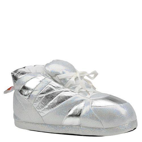Snooki amp; House Feet White Comfy Silver Slippers Small Womens AqEnHU