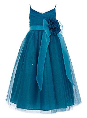 - Princhar Tulle Flower Girl Junior Bridesmaids Little Girl Toddler Dress, 5, Teal