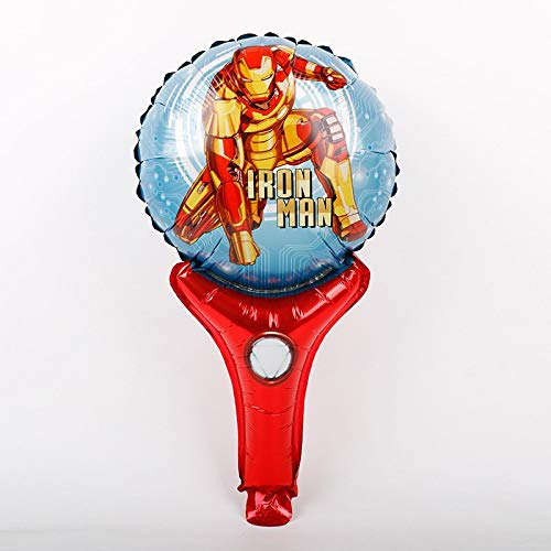 High Quality | Ballons & Accessories | 30pcs Handheld Captan America Shield foil Balloons Avengers Alliance Superhero Hulk globos Birthday Party Decoration Child Toys | by -
