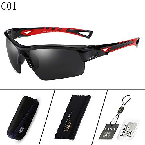 nbsp;Goggles Deportivas nbsp; Mjia Sol nbsp; Hombre de sunglasses 2 Black Sports 2 polarizadas nbsp;Outdoor Gafas Riding Mirror Gafas Black xCwWwpOEq6