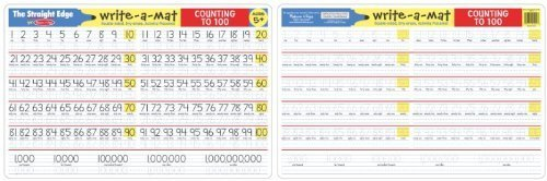 Melissa & Doug Counting to 100 WriteAMat 6Count