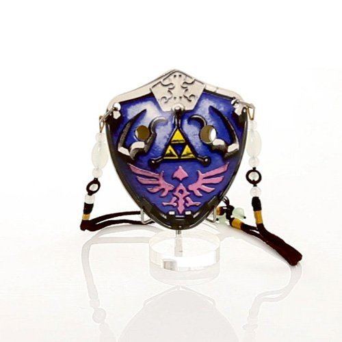 Songbird Box - 6 Hole The Hylian Shield Pendant Ocarina by Songbird - Inspired by the Legend of Zelda - Soprano G- Triforce - Link- Ceramic -Comes in a Display Box with metallic clasp- Beaded Strap - Free Tutorial & Songbook Included