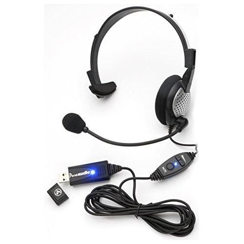 Monaural Voice Recognition USB Headset with Noise Cancelling boom Microphone for Dragon NaturallySpeaking 13, Dragon 13 Home, Premium , Professional & Dragon Dictate for Mac. AAAPrice com Inc - Your Digital Dictation Specialists Andrea NC-181VM USB