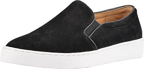 Vionic Women's Splendid Midi Slip-on - Ladies Sneaker with Concealed Orthotic Arch Support Black Nubuck 7 M US
