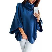 ZJFZML Women's Turtleneck Long Sleeve Irregular Hem Tunic Tops