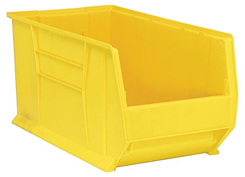Quantum Storage Systems Windows - Quantum QUS976 Plastic Storage Stacking Hulk Container, 30-Inch by 16-Inch by 15-Inch, Yellow, Case of 1