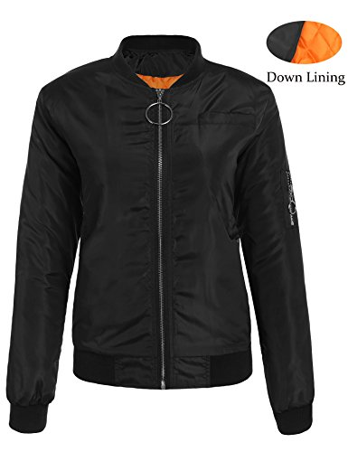 Womens Down Bomber Jacket - 3