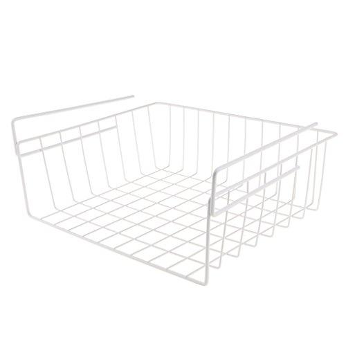 MonkeyJack Wire Dish Drying Rack Under Shelf Cabinet Basket for Pants Fruits Food Organizer - White, 03 by MonkeyJack