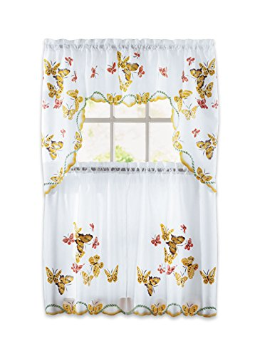 - Carol Wright Gifts Butterfly Curtain Set, Yellow