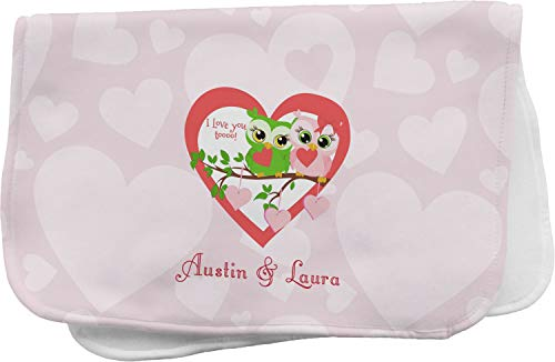 Valentine Owls Burp Cloth (Personalized)