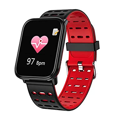 HFXLH Bluetooth Heart Rate Monitor Smart bracelet Blood Pressure Tracker Smart Watch Men Sport Smart Wristband for ios android Estimated Price £35.80 -