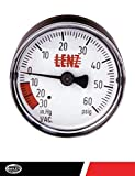 "Lenz Indicator Gauge Filter Compound CP-2: 0-60 Max PSI, 2"" Diameter Width, 1/8"" NPTF Port Size, 221052"