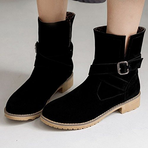 Boots Ankle TAOFFEN High Fashion Black Women's EIIqfpgx