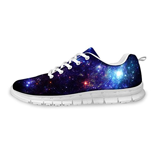 Shoes Fashion U Womens Running B amp; Breathable Mesh Galaxy FOR Blue Sneakers Mens DESIGNS apwqxfxng