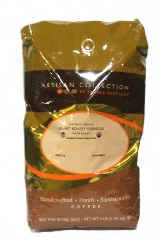 Farmer Brothers Velvet Espresso, 5 Lb Whole Bean Coffee - Organic - Fair Trade
