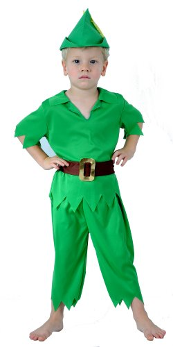 KIDS CHILDREN LIKE PETER PAN FANCYDRESS COSTUME OUTFIT (Toddler Peter Pan Costume compare prices)