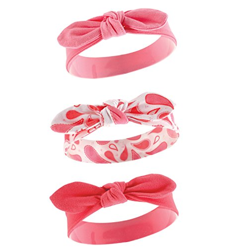 Yoga Sprout Baby Girls' 3 Pack Bow Baby Headbands,Paisley,0-24 Months