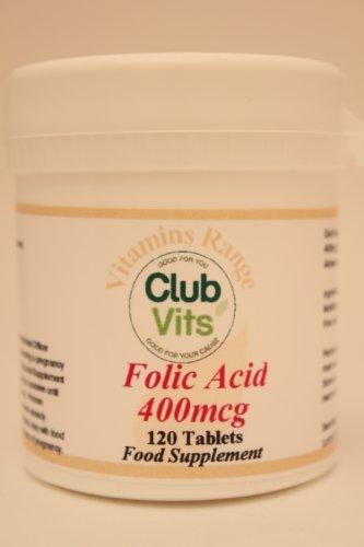 Club Vits Folic Acid 400mcg - 120 Tablets by Club Vits Ltd by Club Vits Ltd