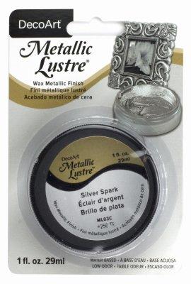 DecoArt Metallic Lustre Wax, 1-Ounce, Silver Spark (Parent)