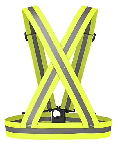 Reflective Vest Elastic & Adjustable Reflective Gear with Hi Vis Bands | High Visibility for Running,Dog Walking,Jogging,Cycling,Motorcycle Safety (2 Pack) by Sunta (Image #5)