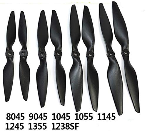 2pairs 8045 9045 1045 1145 1245MR Glass Fiber Rinforced Nylon Propeller for RC Hobby Quadcopter Spare Parts   1245MR