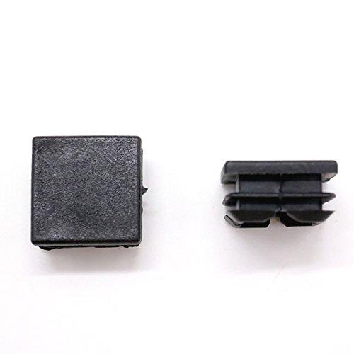 Ids pcs quot square tubing black plastic hole plugs