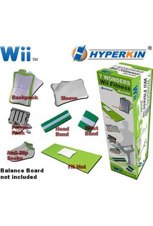 Hyperkin Wii Fit Seven Wonders Bundle 7 PCS
