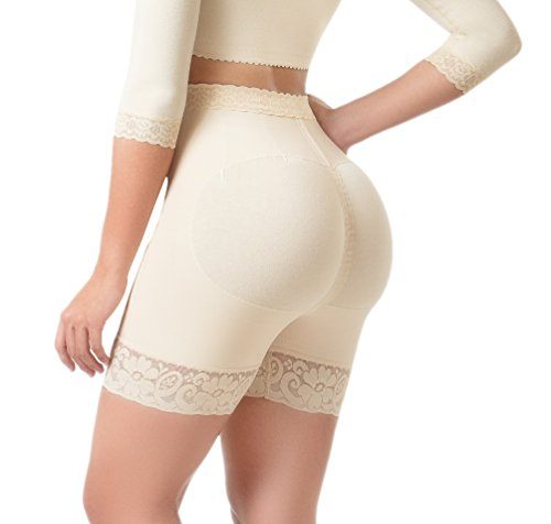 Lifter Flex (Body Flex Butt Lifter Shorts Levanta Cola Colombianos High-Compression Girdle Firm Control Panties (Beige, Medium))
