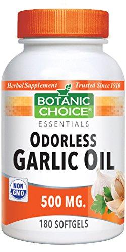 Botanic Choice Odorless Garlic Softgels, 180-Count - Softgels Garlic 180
