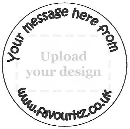 Personalised a4 sheet of 15 x 50mm round glossy stickers upload your own imagequot