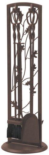 Panacea Fireplace Tool Set 5 Piece, Oak Leaf 30