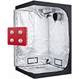 """GreenHouser Garden LED Grow Tent Kit Included 800W LED Grow Light+48""""X48""""X80"""" Grow Room/Box with Removable Water-Proof Liners for Indoor Hydroponic Planting System"""