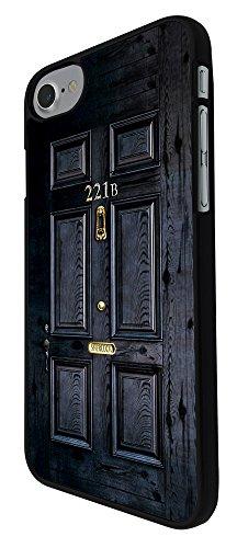 """001564 - 221B Sherlock Door Design iphone 7 4.7"""" Hülle Fashion Trend Case Back Cover Metall und Kunststoff - Schwarz"""