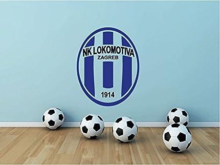 Nk Lokomotiva Zagreb Croatia Soccer Football Sport Home Decor Art Wall Vinyl Sticker 63 X 48 Cm Küche Haushalt