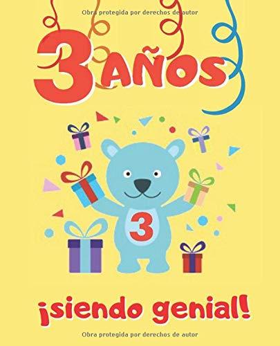 3 AÑOS SIENDO GENIAL: LINDO CUADERNO INFANTIL DE DIBUJOS ...