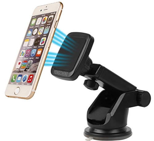 Yongcheng Magnetic Car Mount, Scalable Long Arm Universal Smart Phone Dashboard & Windshield Car Phone Holder for iPad iPhone 7 7Plus SE 6s 6 Plus 5s 5 Samsung Tablet Galaxy S7 Edge S6 S5 S4 Note HTC